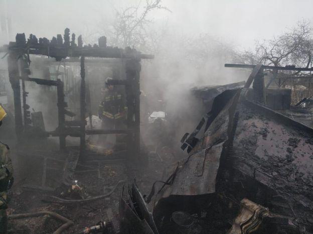 Пожар на садовых участках - пожар в Подольске