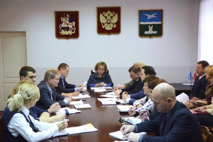 в администрации городского округа чехов прошло еженедельное совещание