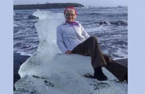 Пожилую американку унес в море ледяной трон