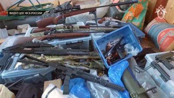 Арсенал оружия нашли ФСБ в Подмосковье