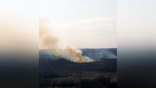 Пожар в Красногорске. Вчера здесь горел лес. В регионе не успели объявить о начале пожароопасного периода. Красногорский городской округ