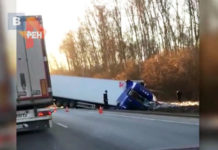 Авария в Подмосковье 2019 - ДТП двух большегрузов. Страшная авария с участием двух большегрузов, случилась сегодня утром в районе Бронниц.