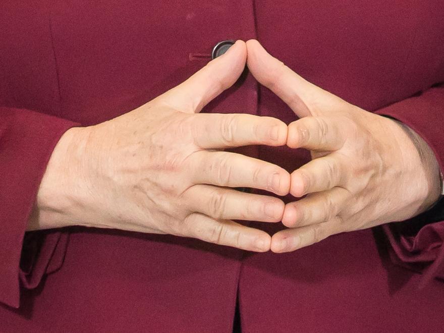 руки домиком