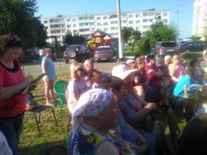 Уличный концерт прошел в п. Мещерское 2