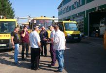 Технический осмотр школьных автобусов в Чехове